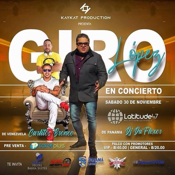 Photo of Concierto en Panamá del cantante Giro López