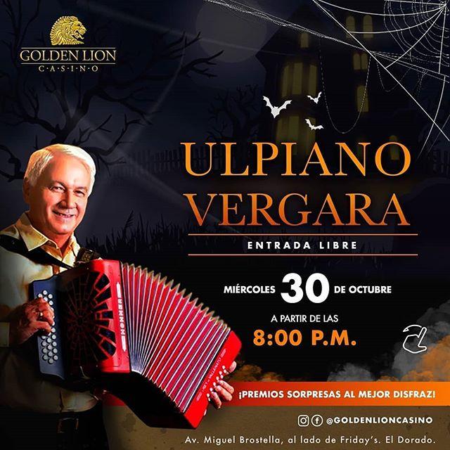 Photo of ¡La fiesta más terrorífica del año, llega a Golden Lion Casino! con Ulpiano Vergara