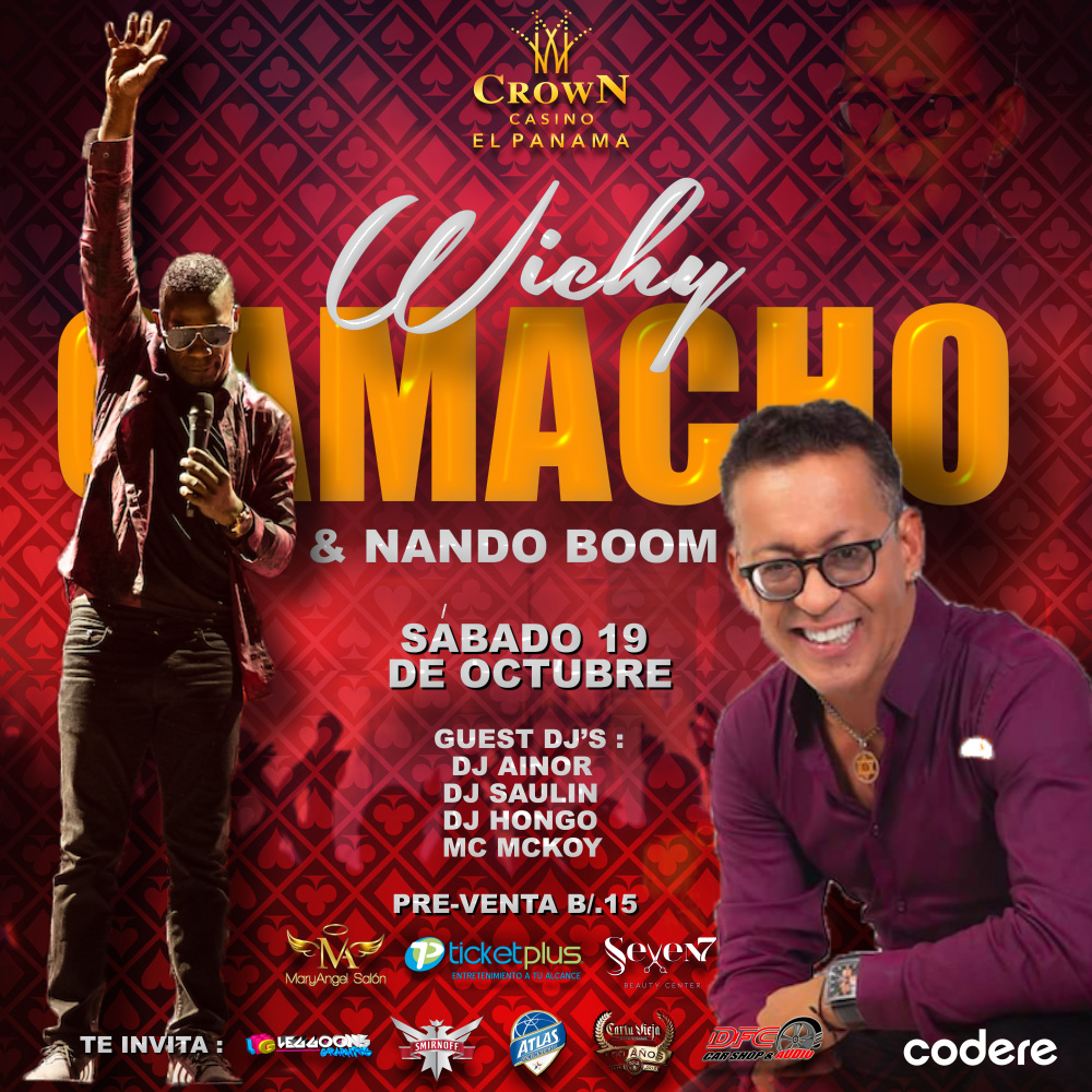 Photo of Concierto de Wichy Camacho y Nando Boom en el Crown Casino El Panamá
