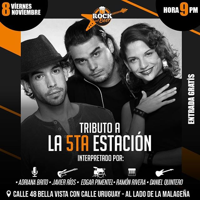 Photo of Tributo a la 5ta. Estación en 'Rock & Beer' en la voz de Adriana Brito