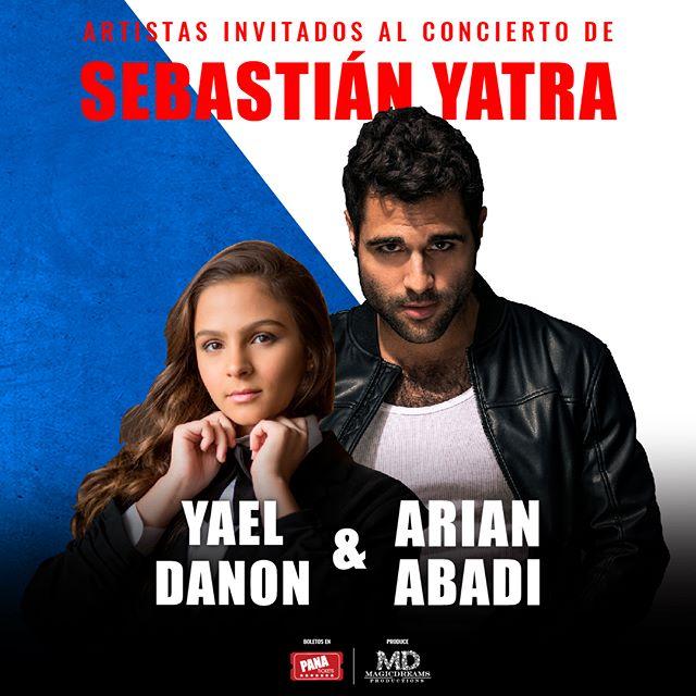 Photo of Yael Danon y Arian Abadi son los artistas nacionales invitados al concierto de Sebastián Yatra en Panamá