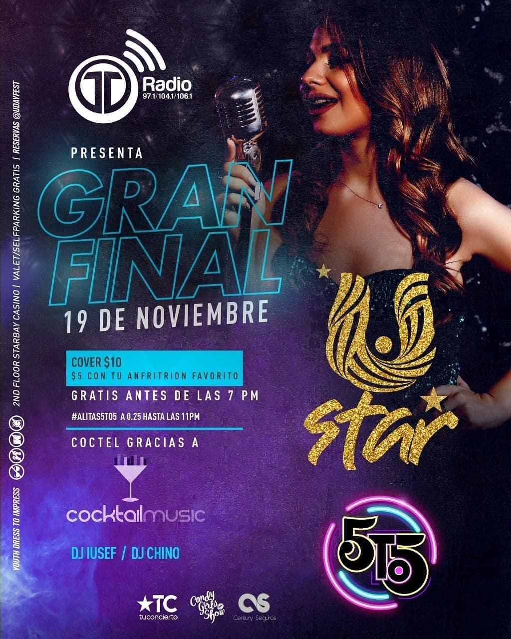 Photo of Telemetro Radio presenta la gran final del 'U Day Star' en la disco 5to5 Panamá