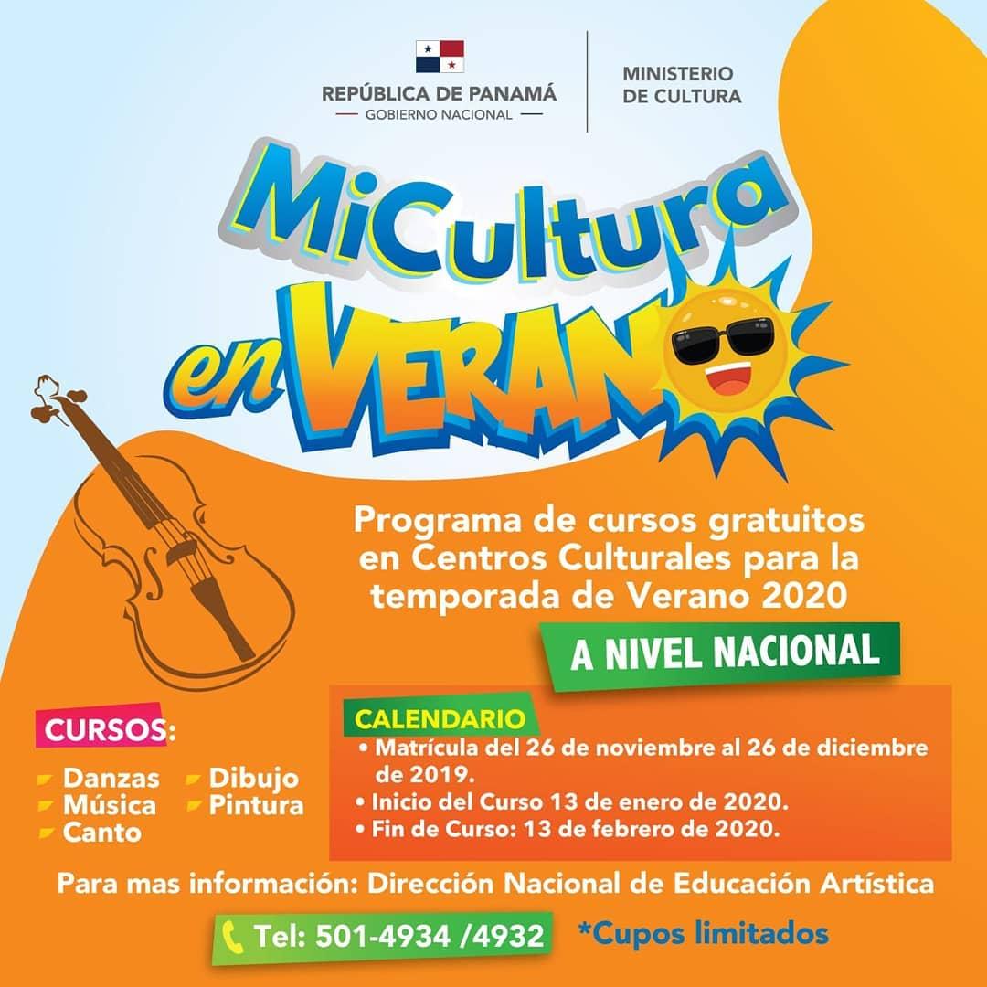 Photo of ¡Atención! el Ministerio de Cultura abre matrículas para los programas artísticos de Verano 2020