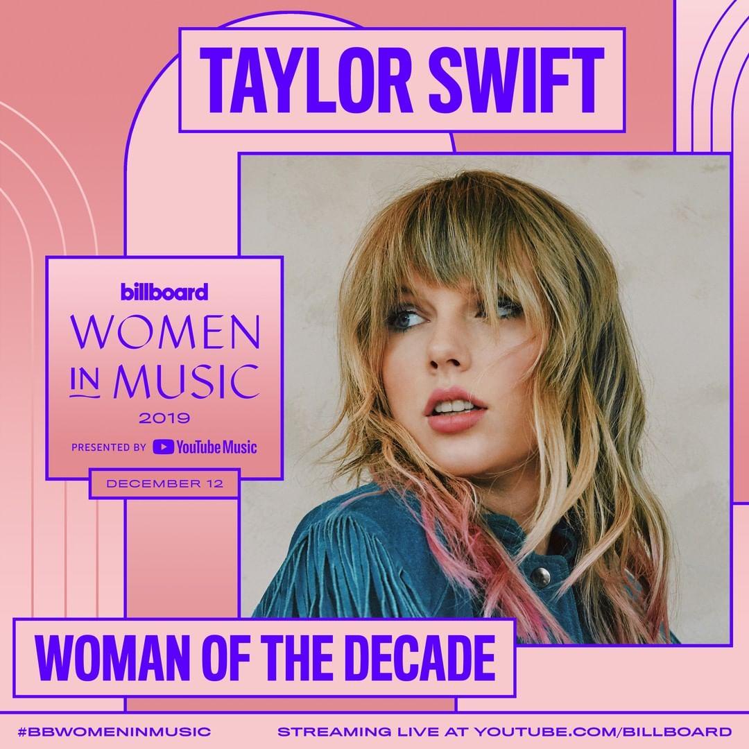 Photo of Taylor Swift se convertirá en la primera en recibir el Premio Mujer de la Década de Billboard