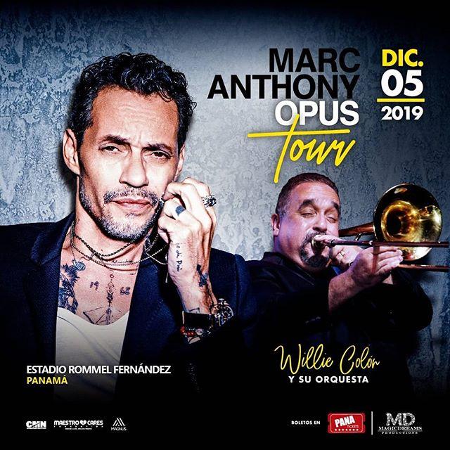 Photo of Marc Anthony y Willie Colón está noche en el Estadio Rommel Fernández