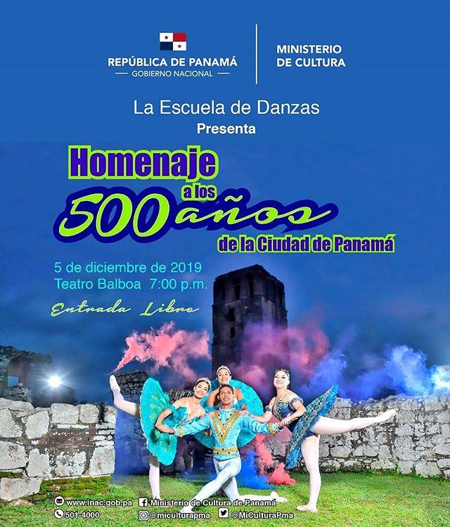 Photo of La Escuela de Danzas presenta «Homenaje a los 500 años de la ciudad de Panamá»