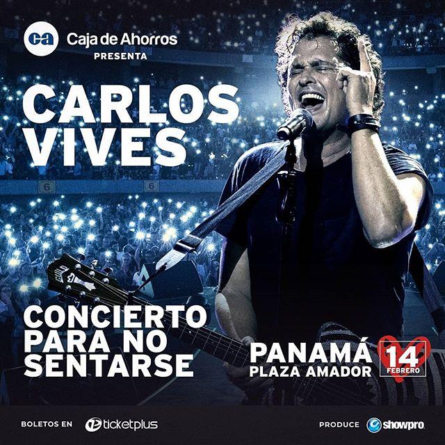 Photo of Carlos Vives en concierto en Panamá el 14 de febrero del 2020
