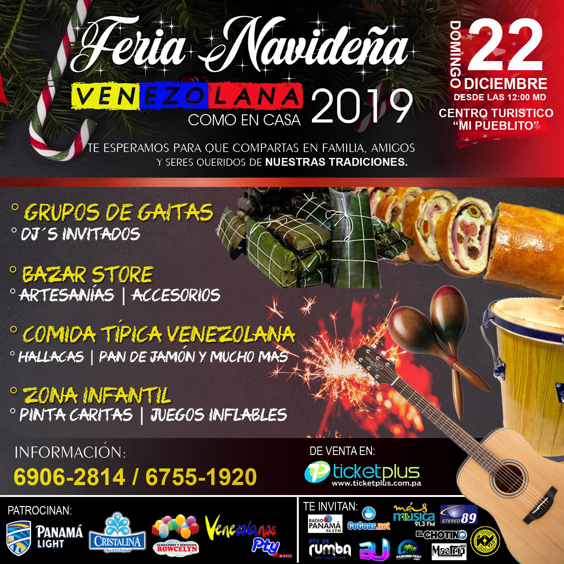 Photo of Feria Navideña Venezolana 2019 en Panamá