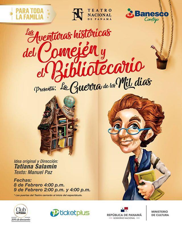 """Photo of """"Las aventuras históricas del Comején y el Bibliotecario presentan: La Guerra de los Mil Días» en Teatro Nacional"""