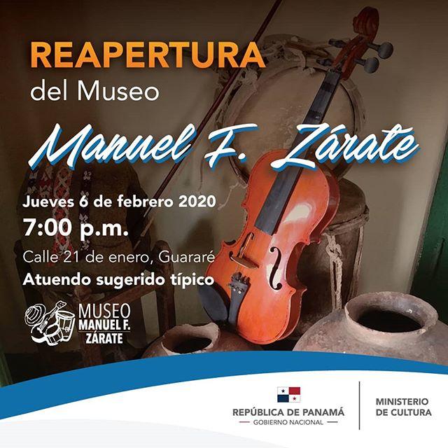 Photo of Están invitados a la Reapertura del Museo Manuel F. Zárate en Guararé