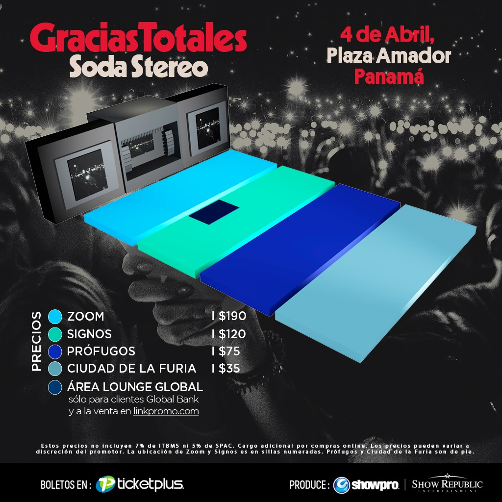 Photo of Soda Stereo en Panamá el próximo 04 de abril en Plaza Amador