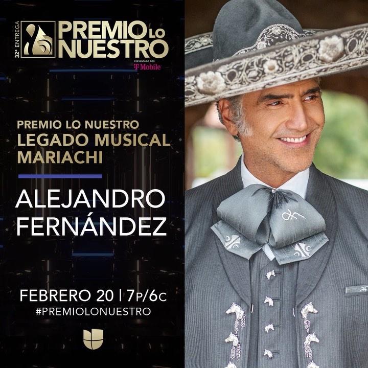 Photo of Premio Lo Nuestro honrará a Alejandro Fernández