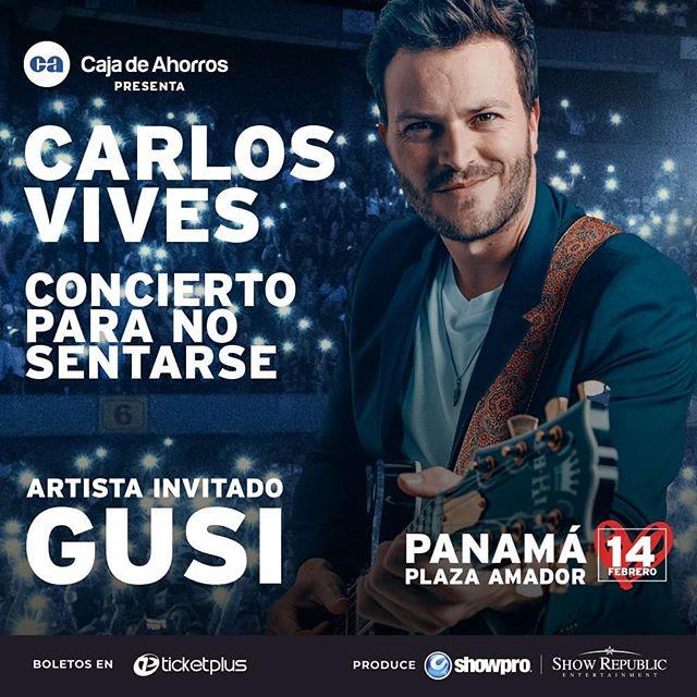 Photo of 'Gusi'es el artista invitado al concierto de Carlos Vives en Panamá