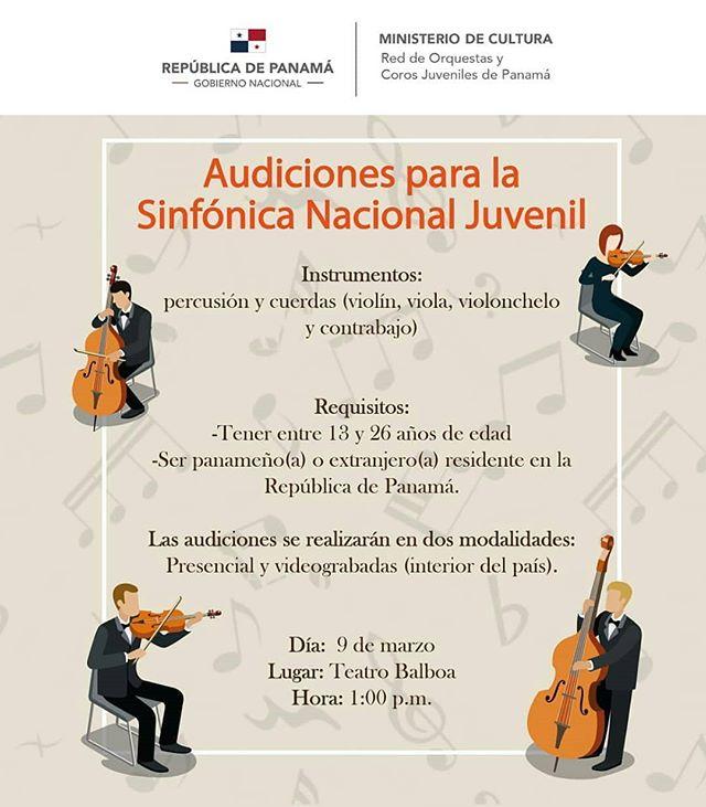 """Photo of Audiciones para la """"Sinfónica Nacional Juvenil"""""""