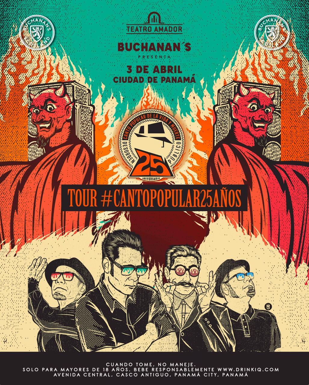 Photo of Buchanan's presenta la banda «Desorden Público» en Panamá