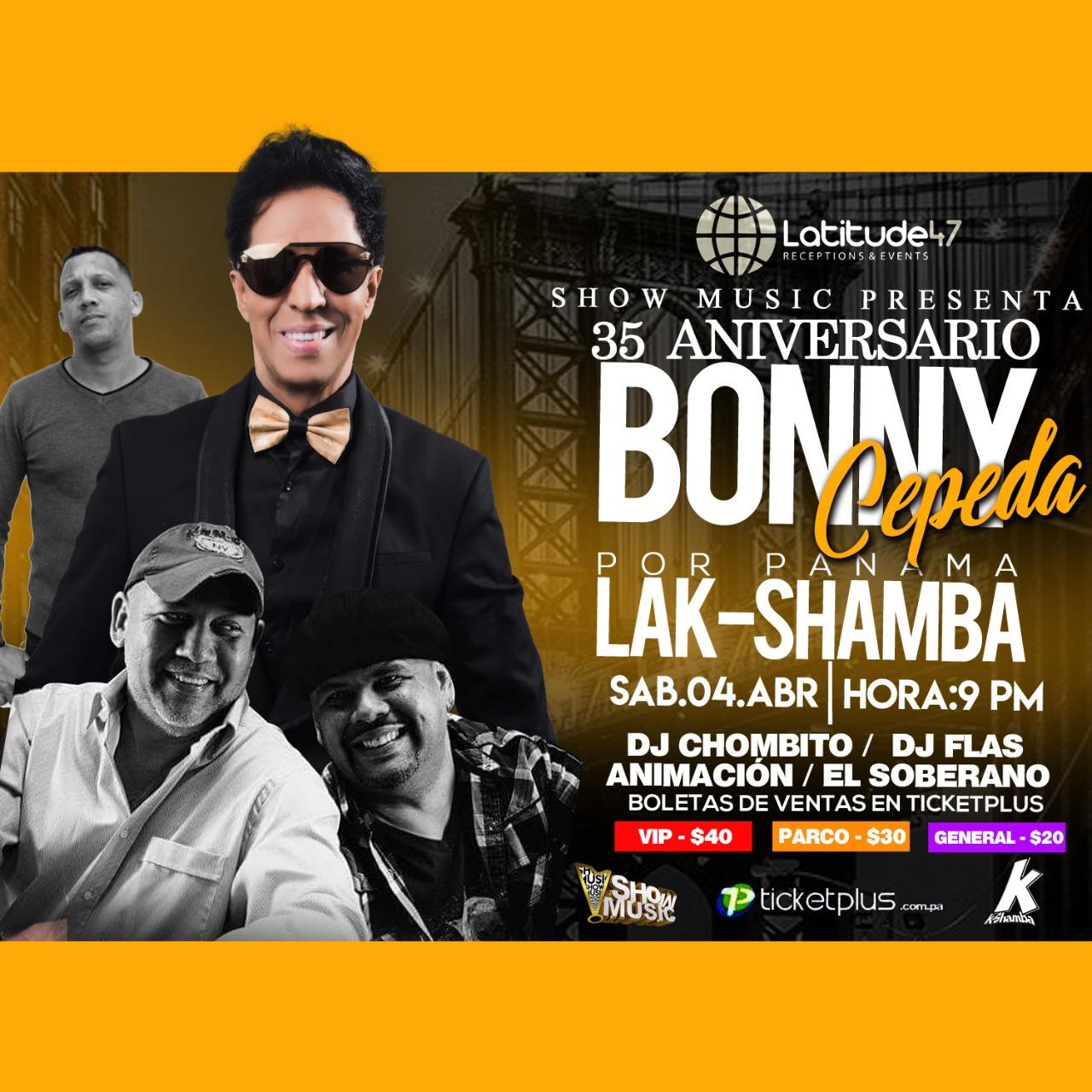 Photo of Bonny Cepeda en concierto en Panamá el próximo 04 de abril