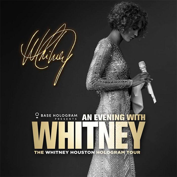 Photo of Whitney Houston comienza su gira convertida en holograma