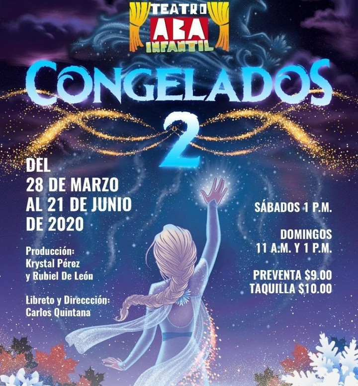 Photo of Teatro Aba trae la obra Infantil «Congelados 2»