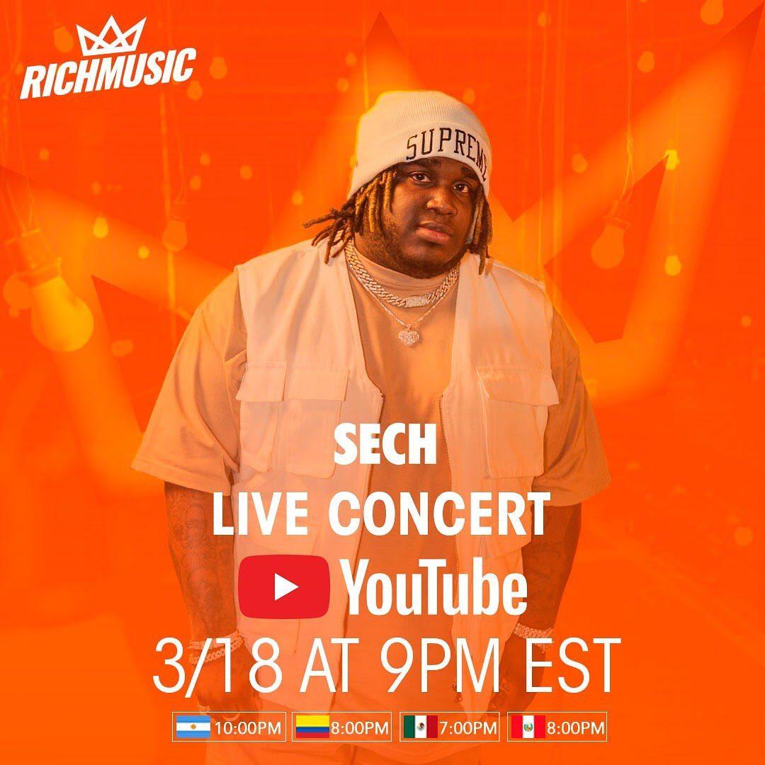 Photo of Sech brindará concierto Live por su canal de YouTube este 18 de Marzo